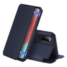 Dux Ducis Skin X usnjeni flip ovitek za Samsung Galaxy A41, modra