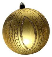 DUE ESSE komplet božične bunkice, zlate, Ø 10 cm, 5 kosov