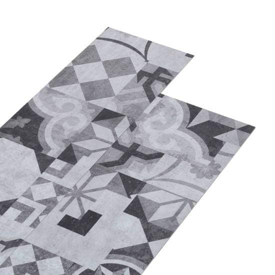 shumee Panele podłogowe PVC, 4,46 m², 3 mm, samoprzylepne, szary wzór