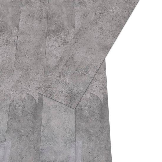 Greatstore Podlahové dosky z PVC 5,26 m² 2 mm, cementovo hnedé