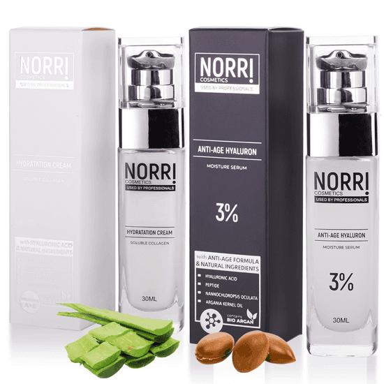 NORRI Anti-age hyaluron 3% 30ml + Hydratation cream 30 ml