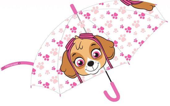 """Eplusm Automatikus esernyő átlátszó """"Mancs örjárat"""" - rózsaszín"""