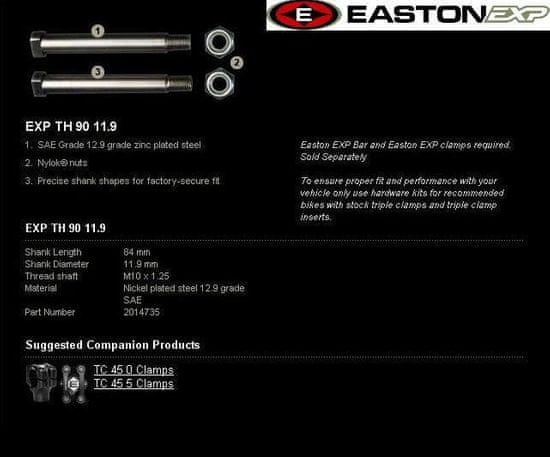 EASTON EXP Montážní sada řidítek EASTON EXP EXP 2014735