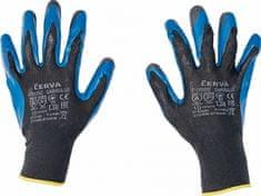 Cerva GARRULUS rukavice máčené v latexu černá 10