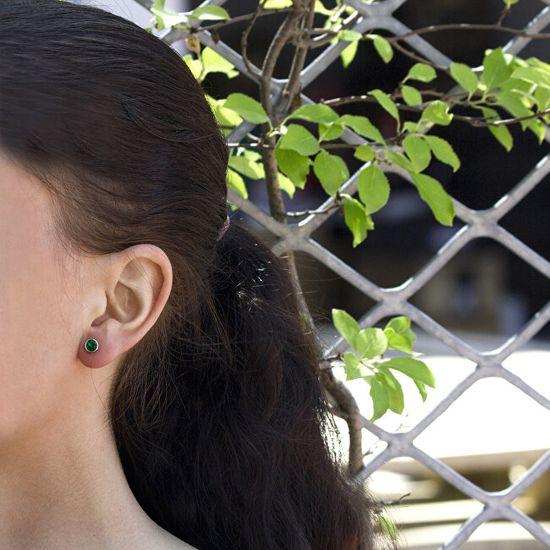 Beneto Srebrni uhani s svetlečimi cirkoni AGUP1719S