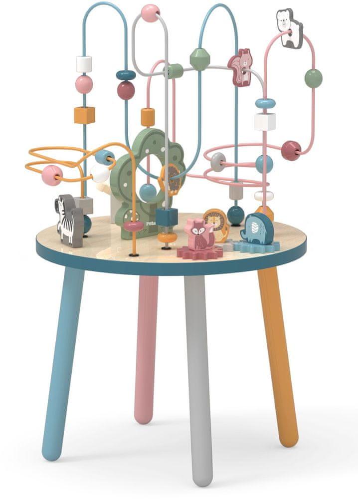 Viga Dřevěný hrací stoleček s labyrintem
