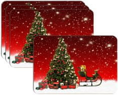 RoomDecor.eu Vianočné prestieranie-016, 4 Ks