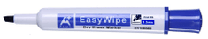 Aplus EasyWhipe C marker za belo tablo, prirezana konica, moder