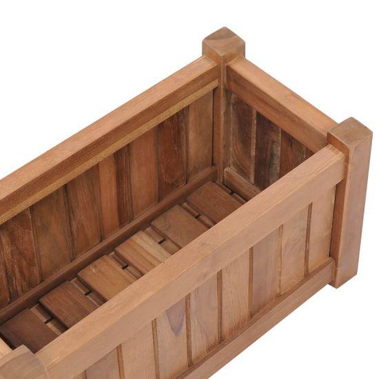 shumee Podwyższona donica 50x25x25 cm, lite drewno tekowe