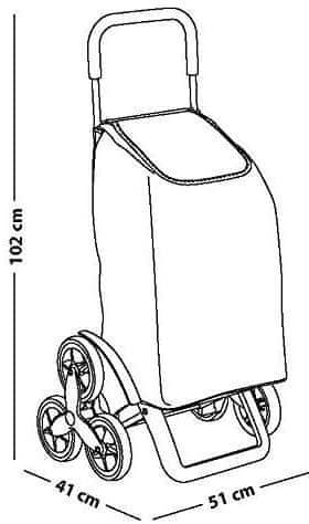 Tavalax Nakupovalni voziček, Črna
