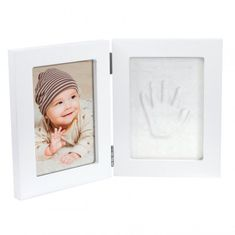 Happy Hands Double frame White Small