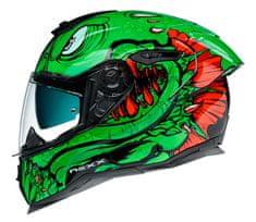 Nexx prilba SX.100R Abisal green/red vel. L