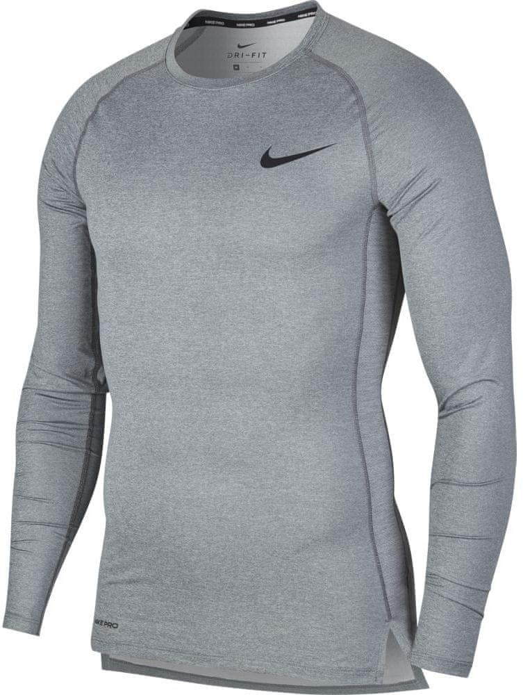 Nike pánské tričko Pro LS XXL šedá