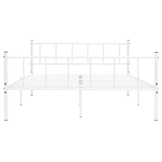 shumee Rama łóżka, biała, metalowa, 200 x 200 cm