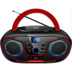 Silva Schneider MPC 19.4 prenosni radio, USB, črno-rdeč