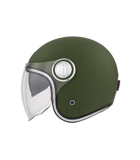 NOX PREMIUM Přilba HERITAGE, NOX PREMIUM (zelená khaki matná) S