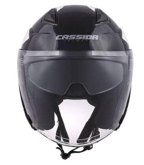 Cassida Přilba Jet Tech Corso, CASSIDA (černá/bílá) 2XL