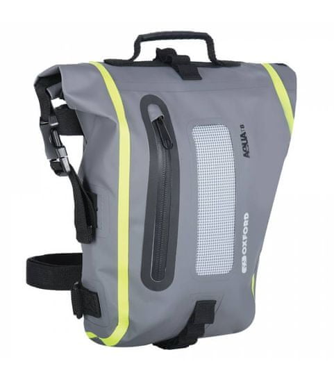 Oxford Brašna na sedlo spolujezdce Aqua T8 Tail bag, OXFORD (černá/šedá/žlutá fluo, objem 8 l)
