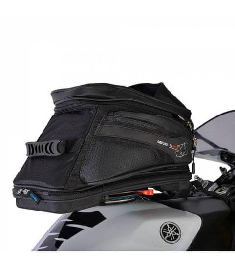 Oxford Tankbag na motocykl Q20R Adventure QR, OXFORD (černý, s rychloupínacím systémem na víčka nádrže, objem 20 l)