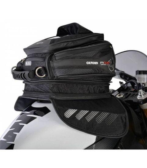 Oxford Tankbag na motocykl M15R, OXFORD (černý, s magnetickou základnou, objem 15 l)