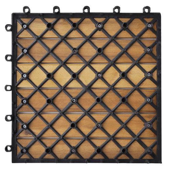 shumee 10 db Akác deszka csempe 30 x 30 cm függőleges minta