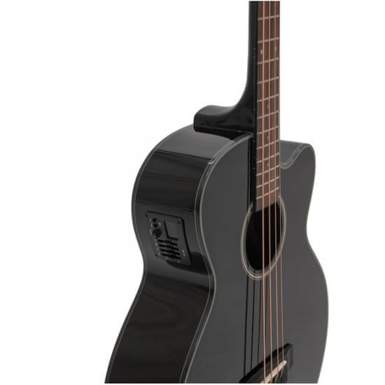 Dimavery AB-450, elektroakustická baskytara, černá
