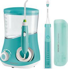 SENCOR zestaw irygator i elektryczna szczoteczka do zębów SOI 2202TQ + SOC 2202TQ