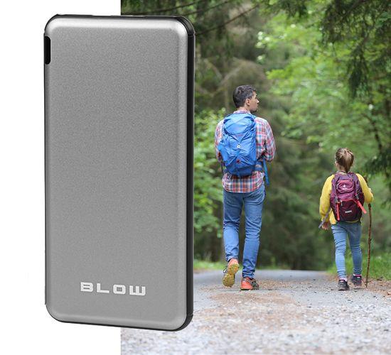 Blow PB20A Powerbank prenosna baterija, 20000 mAh, črna/srebrna