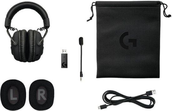 Logitech G PRO X Wireless brezžične gaming slušalke, 7.1, Lightspeed