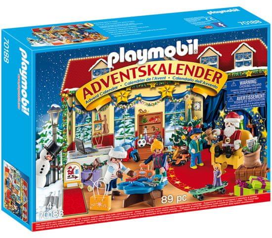 Playmobil PLAYMOBIL® Christmas 70188 Adventný kalendár - Vianoce v hračkárstve