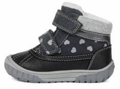 Geox dívčí kotníčková obuv Omar B042LA 02285 C9002 22 tmavě šedá