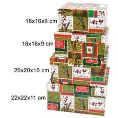 DUE ESSE komplet božičnih darilnih škatel, 4 kosi