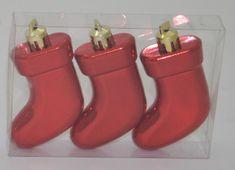 DUE ESSE komplet božičnih okraskov – škorenj, rdeč, 7,5 cm, 3 kosi