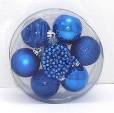 DUE ESSE komplet božičnih okraskov + veriga, Ø 6 cm, 6 kosov