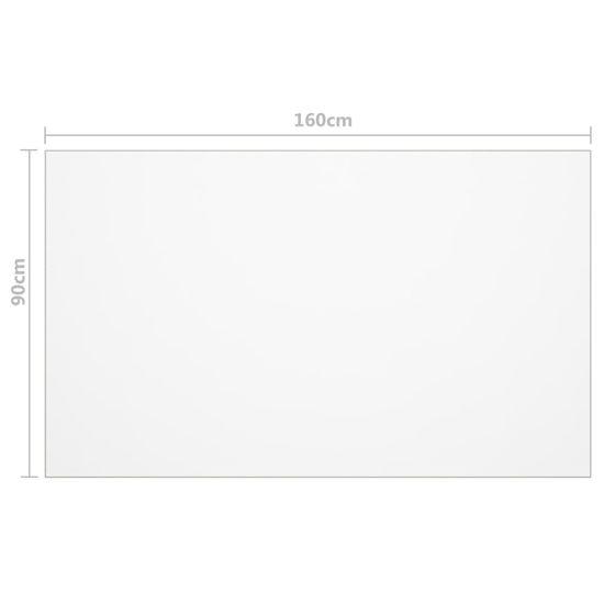 Greatstore Ochranná fólie na stůl průhledná 160 x 90 cm 2 mm PVC