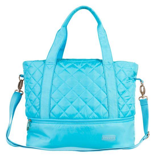 PEPPERS Puffy torba, ročna, modra
