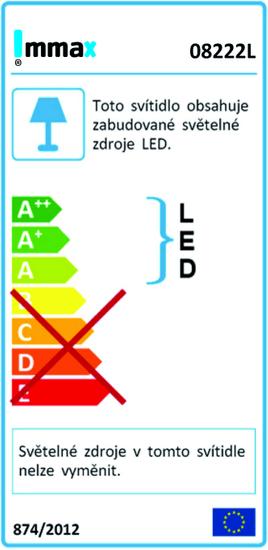 Immax LED taburet 50cm s podsvícením, nafukovací