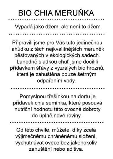 Dr. Hlaváč BIO džem Chia Meruňka 260 g BEZ přídavku CUKRU