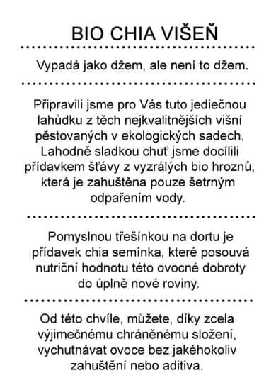 Dr. Hlaváč BIO džem Chia Višeň 260 g BEZ přídavku CUKRU