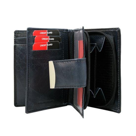 Lorenti Dámská multifunkční kožená peněženka Aloisie modrá