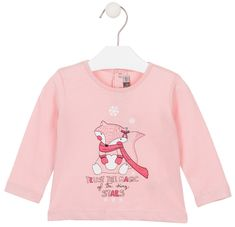 Losan dívčí tričko s dlouhými rukávy 68 růžová
