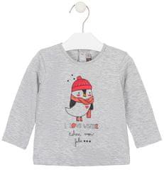 Losan dívčí tričko s dlouhými rukávy 68 šedá