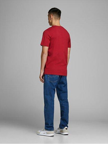 Jack&Jones T-shirt męski JJECORP 12151955 RioRed Szczupły