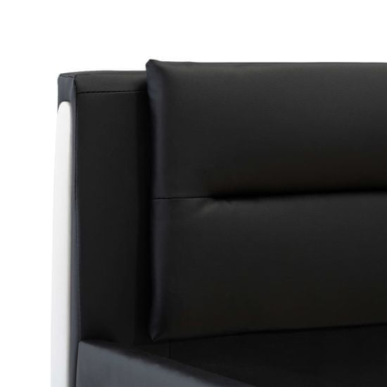 shumee Posteljni okvir črno umetno usnje 160x200 cm