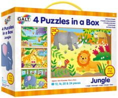 Galt 4 puzzle v krabici - Džungle