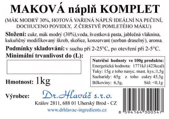 Dr. Hlaváč Maková náplň Komplet 1 kg