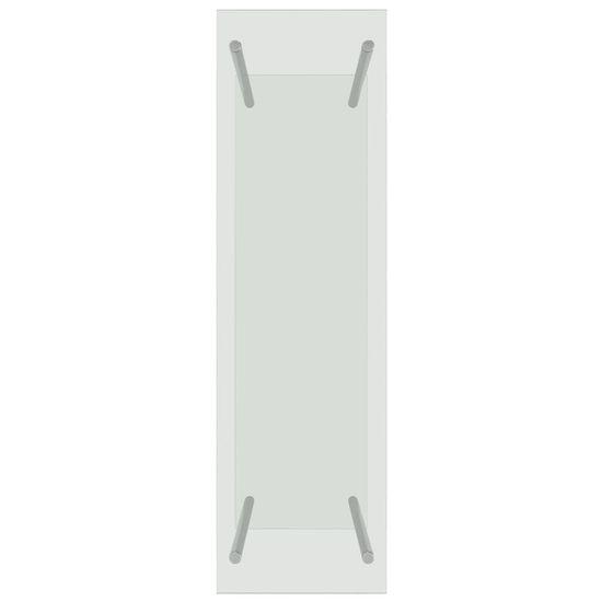 shumee Stojalo za drva prozorno 80x35x120 cm steklo