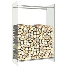 shumee Stojan na krbové drevo, priehľadný 80x35x120 cm, sklo