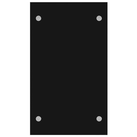 shumee Stojalo za drva črno 80x35x60 cm steklo