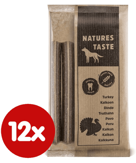 Tommi przekąska dla psa Natures Taste GF Dental sticks indyk 12x140 g